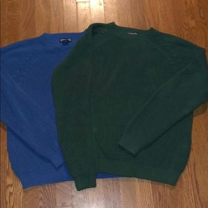 2 NWOT Lands' End cable knit sweater sweaters.